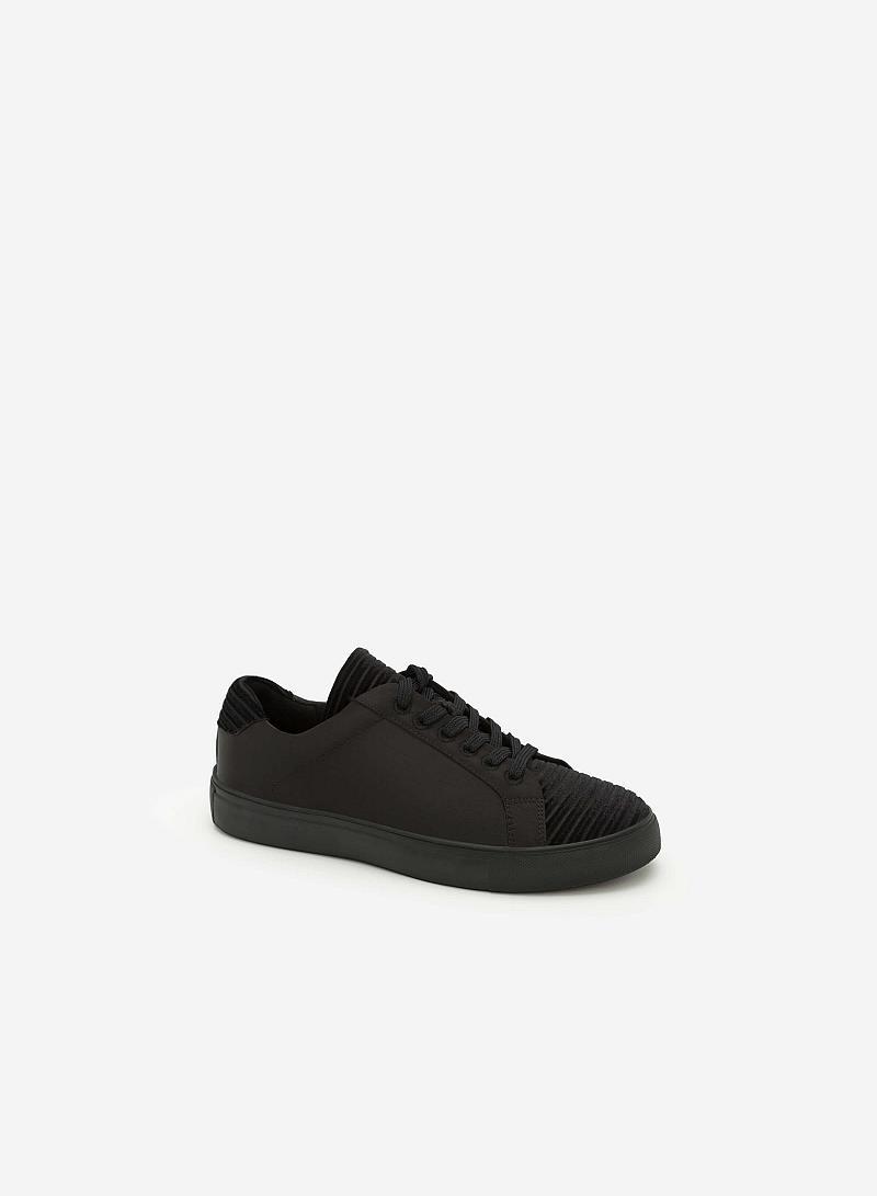 Giày Sneaker Cột Dây - SNK 0012 -  Màu Đen - VASCARA