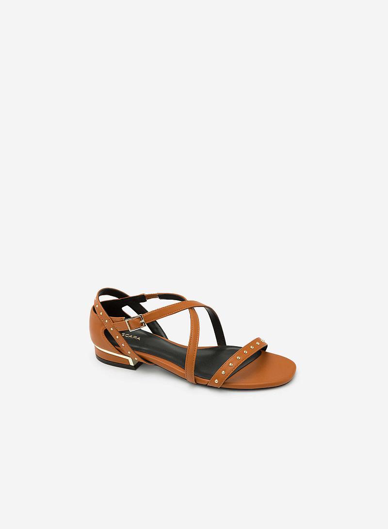 Giày Sandal Quai Đan Chéo - SDK 0274 -  Màu Nâu - vascara