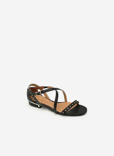 Giày Sandal Quai Đan Chéo - SDK 0274 -  Màu Đen