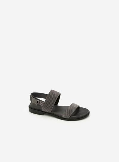 Giày Sandal Quai Ngang - SDK 0282 -  Màu Xám - VASCARA