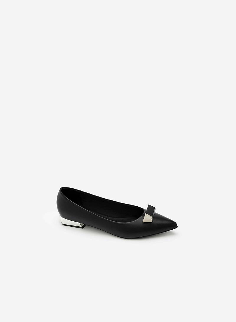 Giày Bít Trang Trí Mũi - BMN 0302 -  Màu Đen - VASCARA