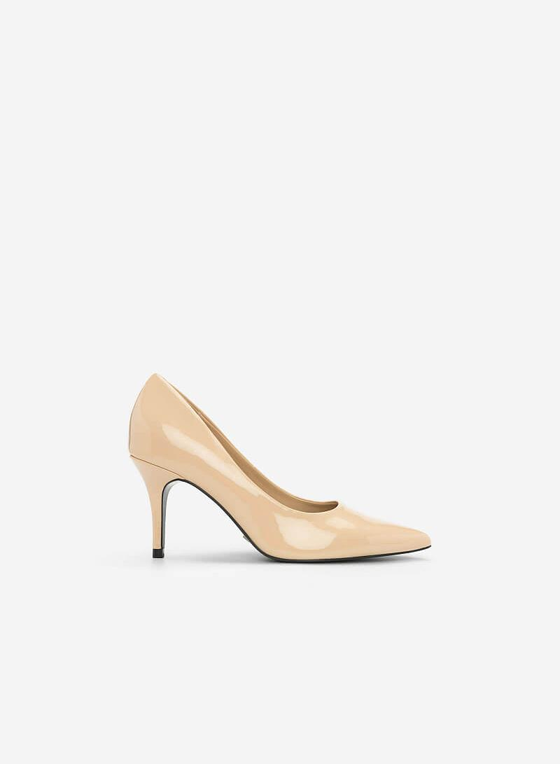 Giày Cao Gót Họa Tiết Nhiệt Đới - BMN 0338 - Màu Be - vascara