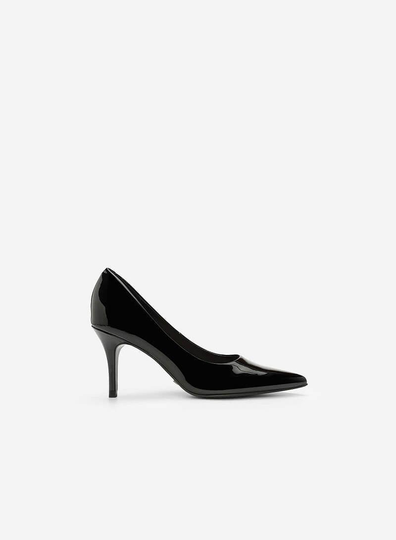 Giày Cao Gót Họa Tiết Nhiệt Đới - BMN 0338 - Màu Đen - VASCARA