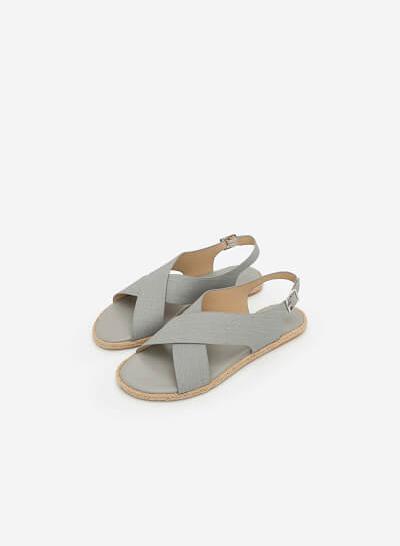 Xem sản phẩm Giày Sandal Quai Đan Chéo - SDK 0292 - Màu Xám Nhạt