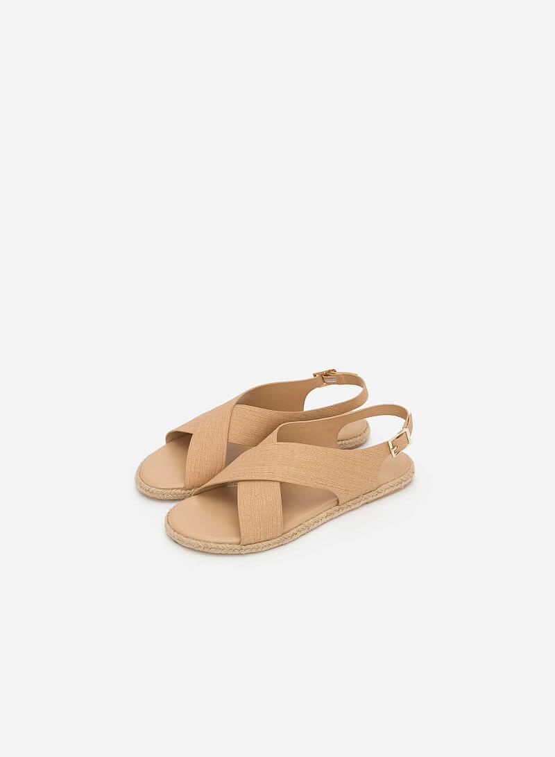 Giày Sandal Quai Đan Chéo - SDK 0292 - Màu Be - vascara