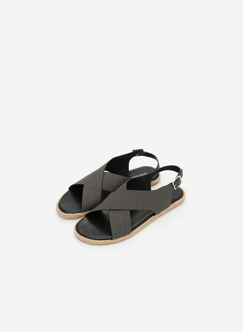 Giày Sandal Quai Đan Chéo - SDK 0292 - Màu Đen - VASCARA