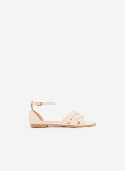Xem sản phẩm Giày Ankle Strap Bít Gót - SDK 0293 - Màu Be