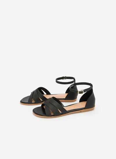 Giày Ankle Strap Bít Gót - SDK 0293 - Màu Đen - vascara