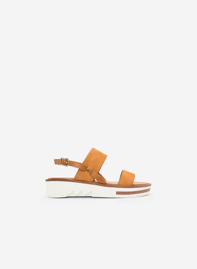 Giày Sandal Đế Xuồng - SDX 0408 - Màu Nâu - VASCARA