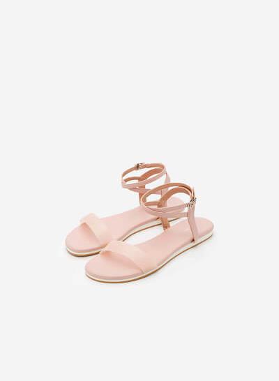 Giày Ankle Strap - SDK 0290 - Màu Hồng - VASCARA