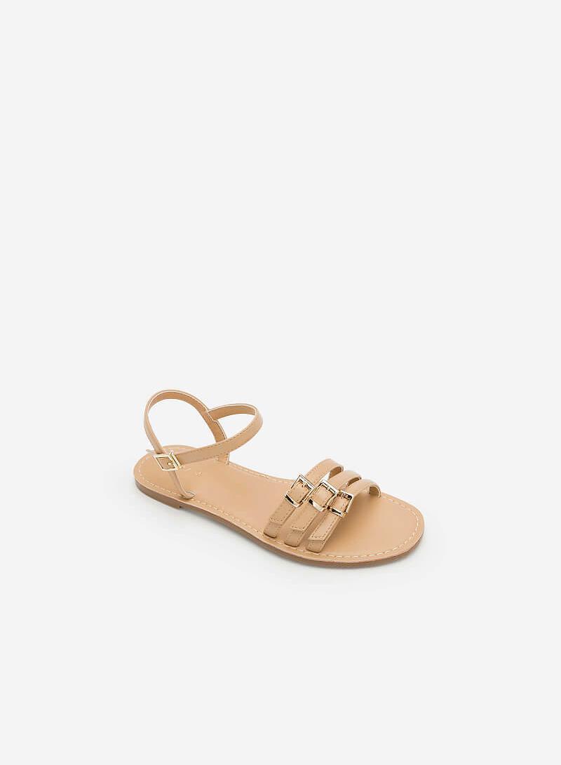 Giày Sandal Phối Khóa Cài - SDK 0294 - Màu Be - VASCARA