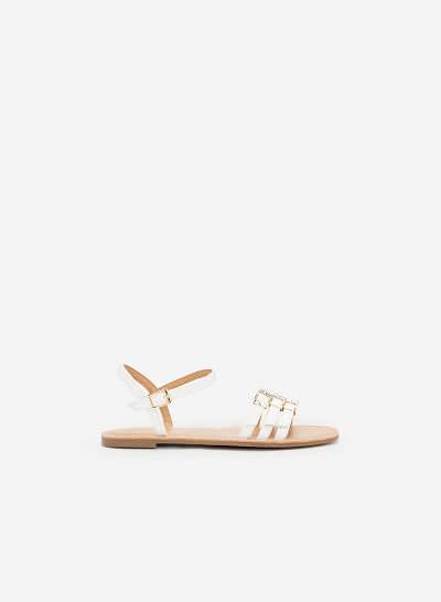 Giày Sandal Phối Khóa Cài - SDK 0294 - Màu Trắng - VASCARA