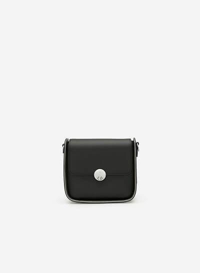 Túi Đeo Chéo Nắp Gập - SHO 0140 - Màu Đen