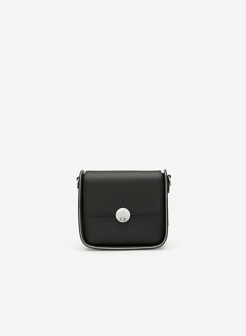 Túi Đeo Chéo Nắp Gập - SHO 0140 - Màu Đen - vascara
