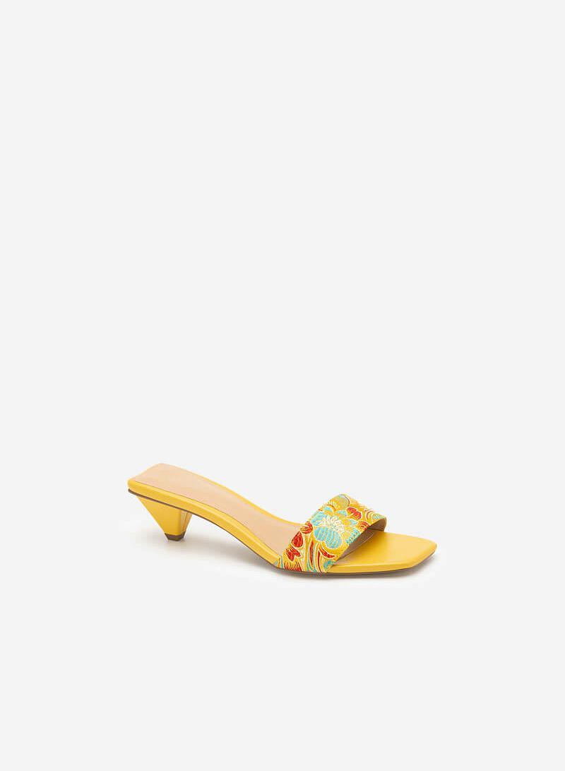 Hài Gấm Cát Tường - GNN 0144 - Màu Vàng - VASCARA