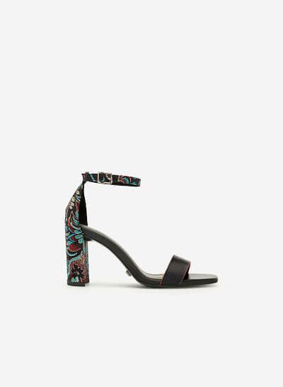 Giày Cao Gót Ankle Strap Như Ý - SDN 0662 - Màu Đen - VASCARA