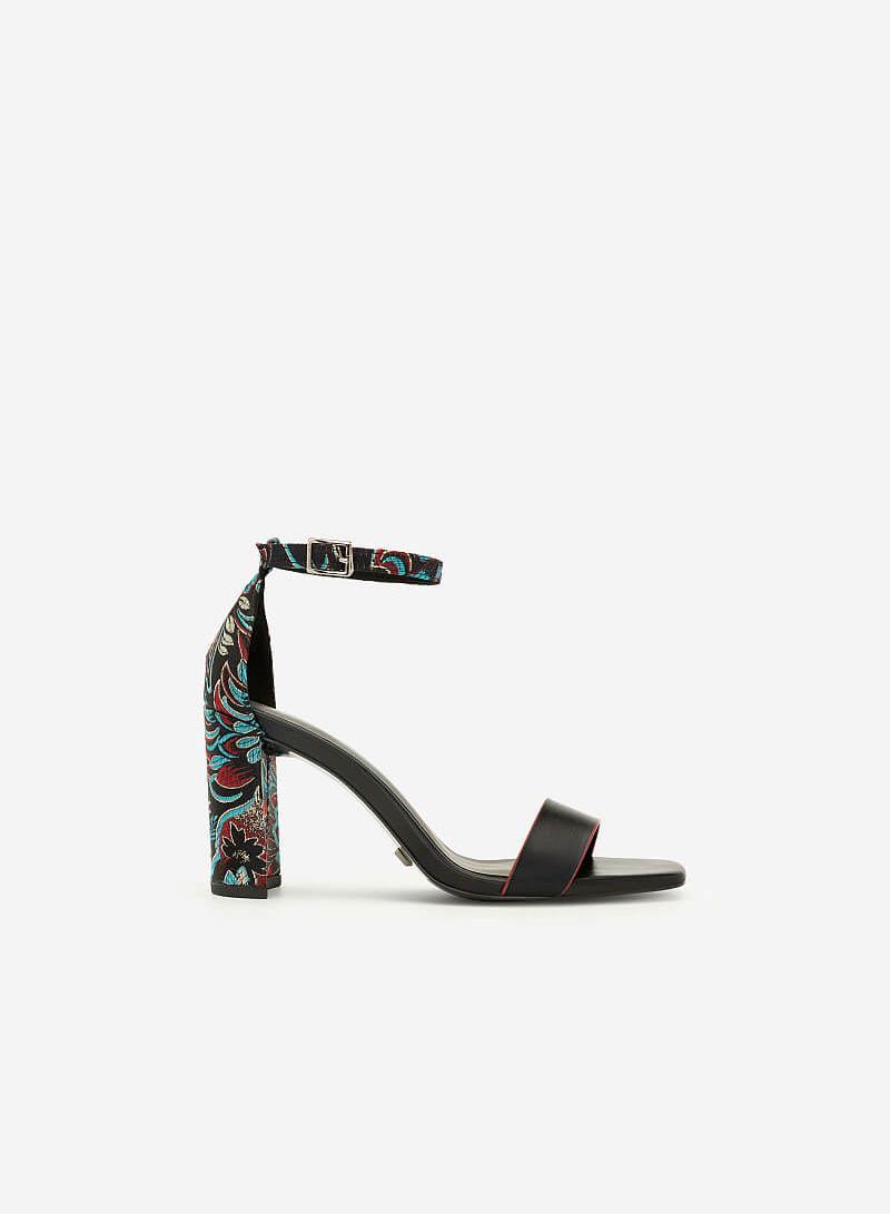 Giày Cao Gót Ankle Strap Như Ý - SDN 0662 - Màu Đen