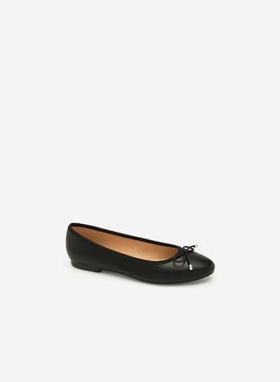 Giày Búp Bê Đính Nơ - GBB 0414 - Màu Đen - vascara.com