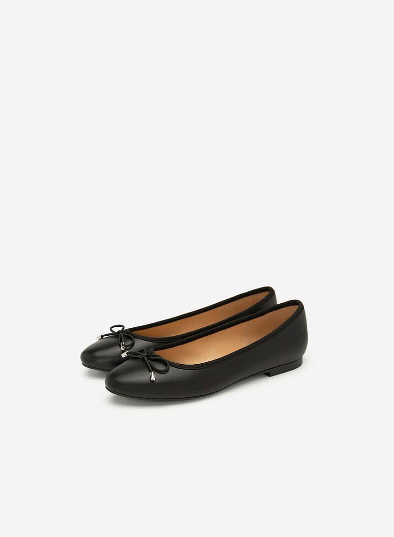 Giày Búp Bê Đính Nơ - GBB 0414 - Màu Đen