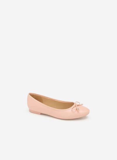 Giày Búp Bê Đính Nơ - GBB 0414 - Màu Hồng