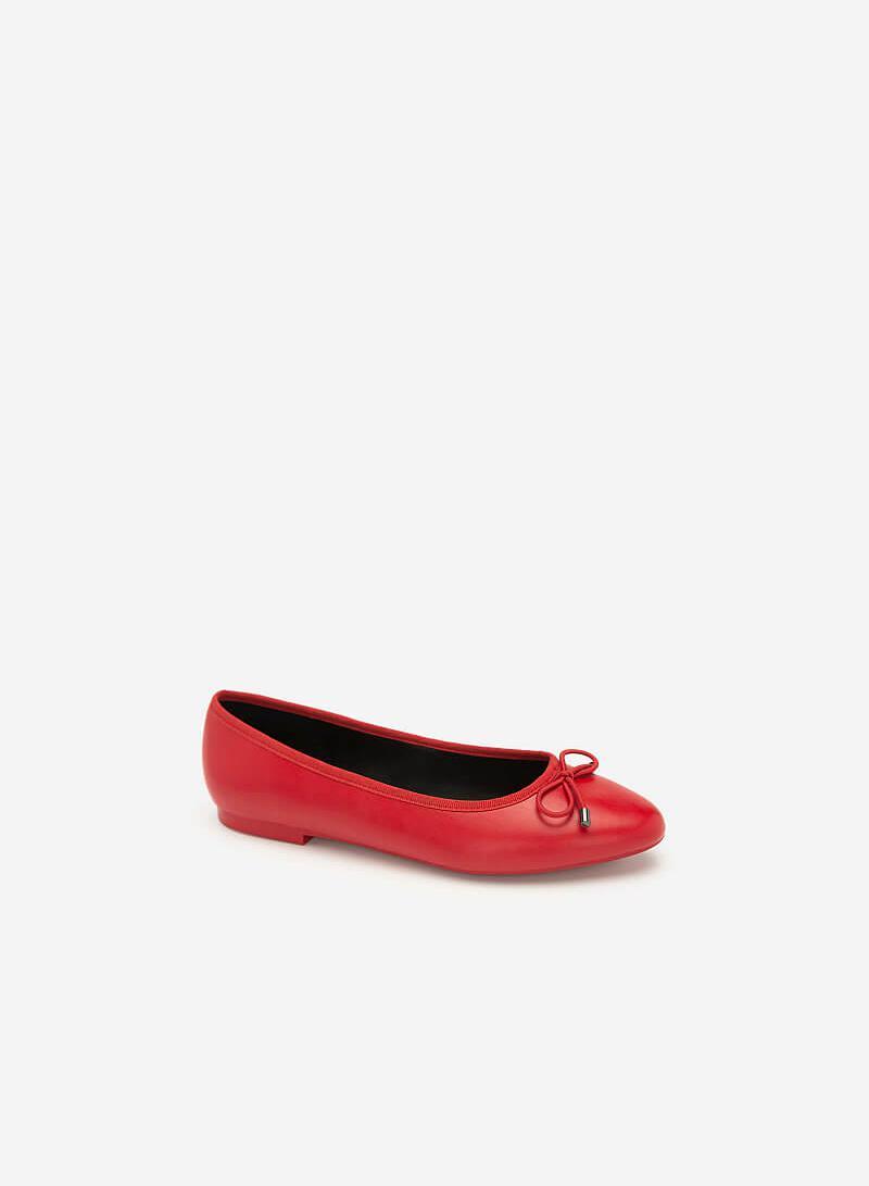 Giày Búp Bê Đính Nơ - GBB 0414 - Màu Đỏ - vascara.com