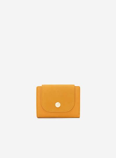 Ví Cầm Tay Phối Chất Liệu Nubuck - WAL 0182 - Màu Vàng Đậm - vascara.com