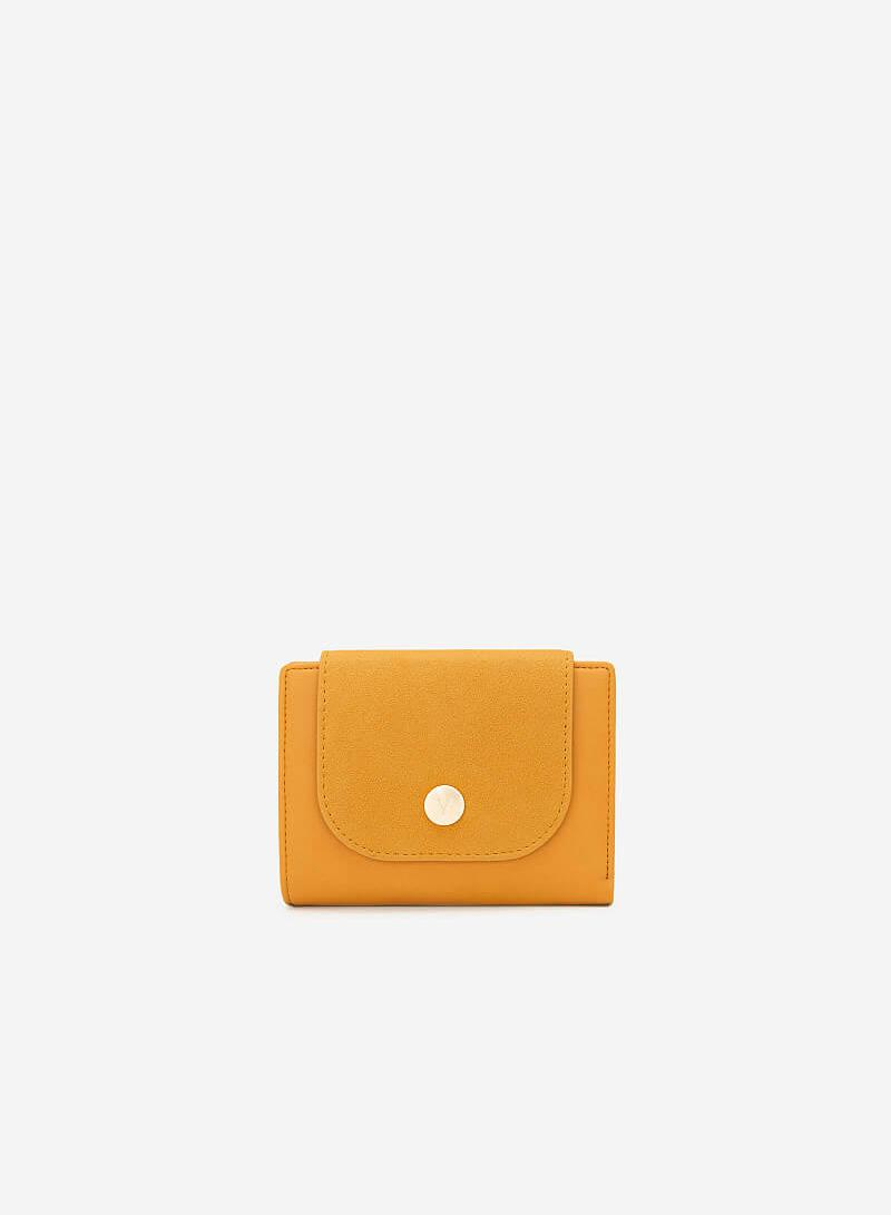 Ví Cầm Tay Phối Chất Liệu Nubuck - WAL 0182 - Màu Vàng Đậm