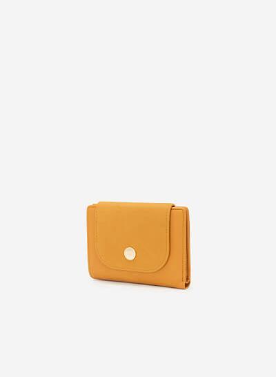Ví Cầm Tay Phối Chất Liệu Nubuck - WAL 0182 - Màu Vàng Đậm - VASCARA