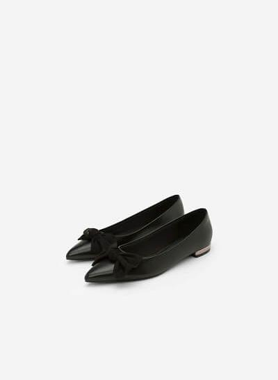 Giày Bít Đính Nơ BMN 0333 - Màu Đen