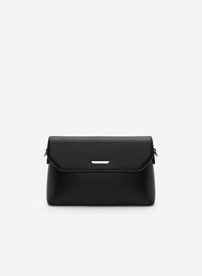 Túi Đeo Chéo Nắp Gập SHO 0129 - Màu Đen