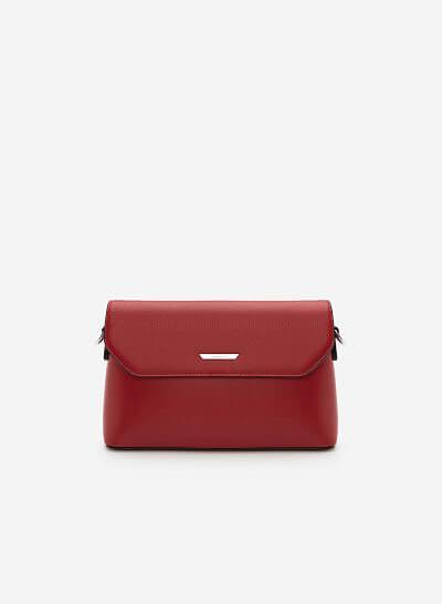Túi Đeo Chéo Nắp Gập SHO 0129 - Màu Đỏ