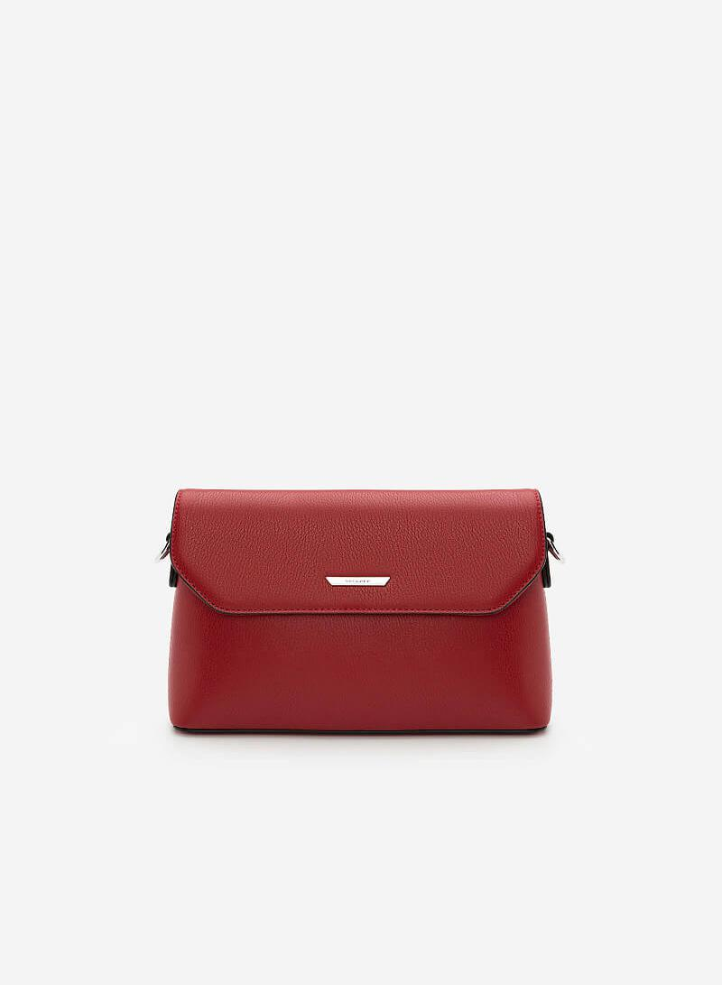Túi Đeo Chéo Nắp Gập SHO 0129 - Màu Đỏ - VASCARA