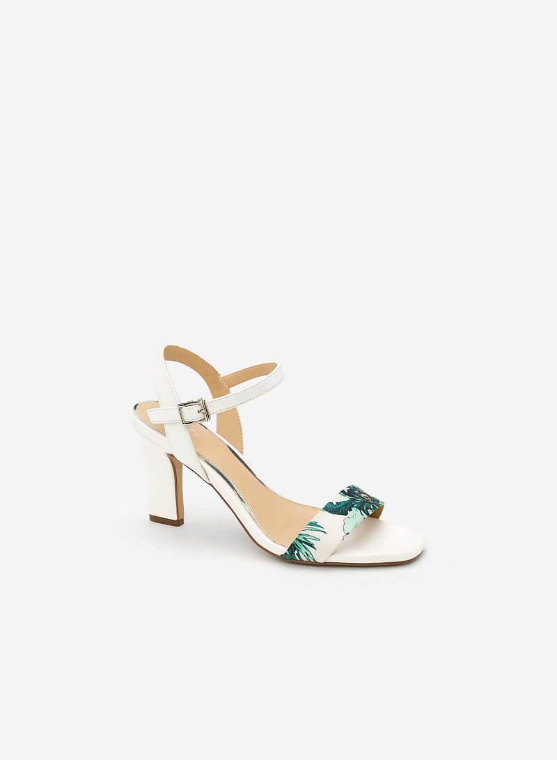 Giày Sandal Họa Tiết Nhiệt Đới - SDN 0631 - Màu Trắng - vascara
