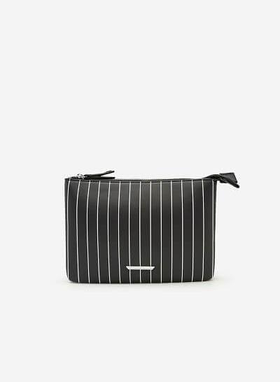 Túi Đeo Chéo Họa Tiết Kẻ Sọc - SHO 0128 - Màu Đen