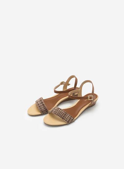 Giày Sandal Quai Ngang - SDX 0407 - Màu Nâu