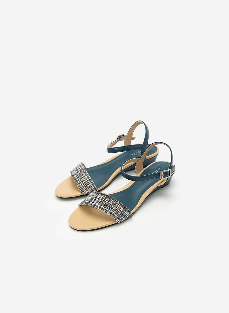 Giày Sandal Quai Ngang - SDX 0407 - Màu Xanh Cổ Vịt - VASCARA