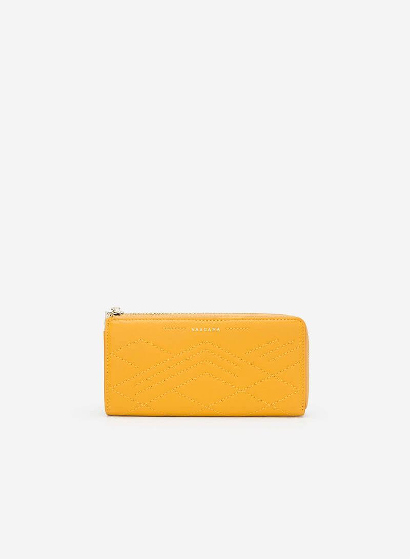 Ví Cầm Tay Dập Nổi Hình Học - WAL 0172 - Màu Vàng Đậm - vascara