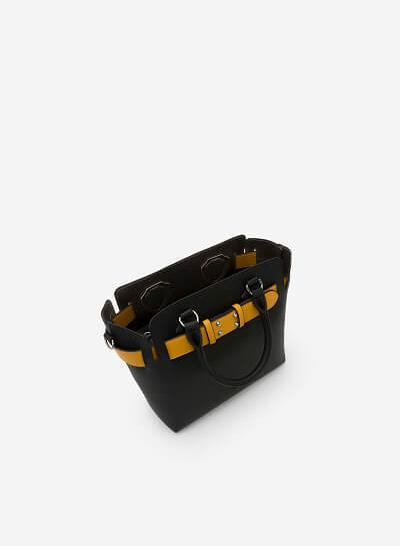 Túi Xách Tay Màu Phối Belt - SAT 0227 - Màu Đen - vascara