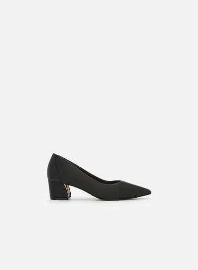 Giày Bít Mũi Nhọn Gót Vuông - BMN 0354 - Màu Đen