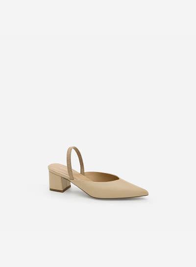 Giày Slingback Gót Vuông - BMN 0347 - Màu Be