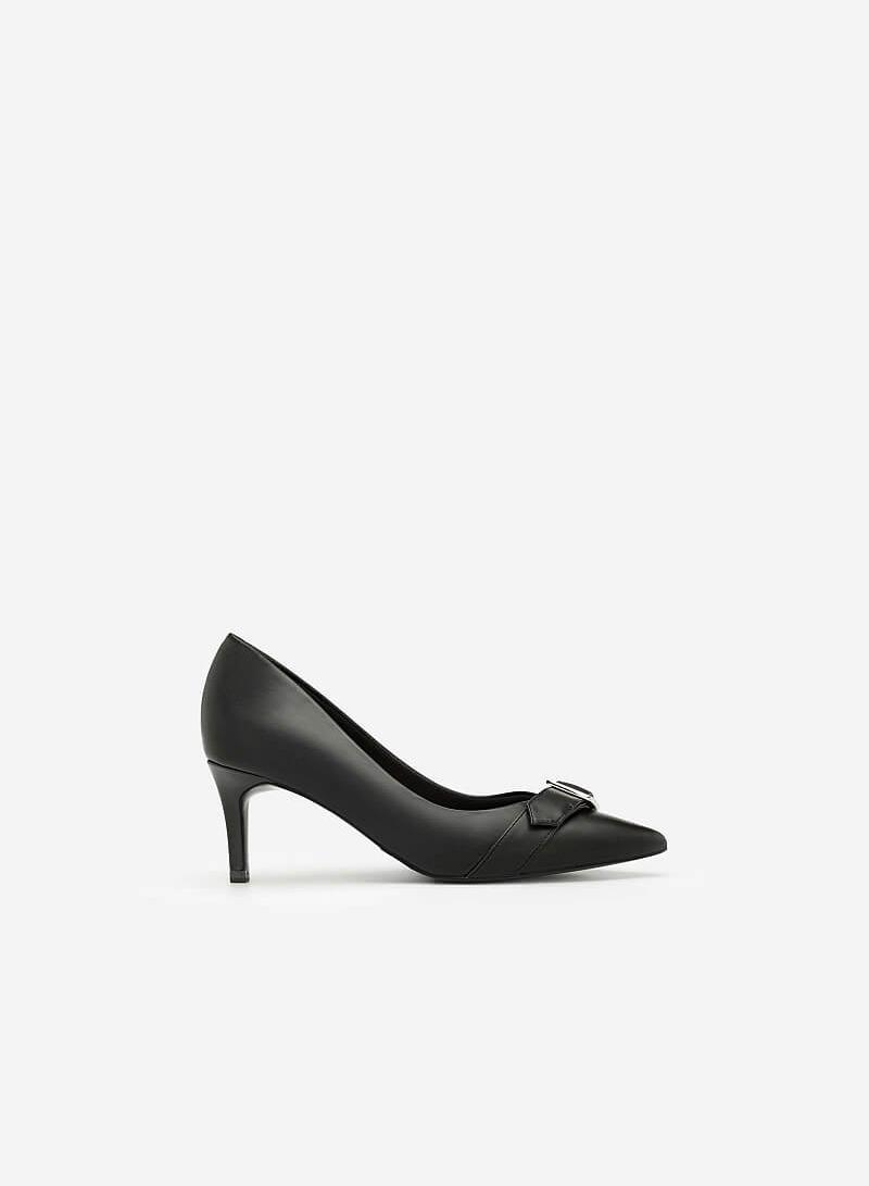 Giày Cao Gót Phối Belt - BMN 0349 - Màu Đen - vascara