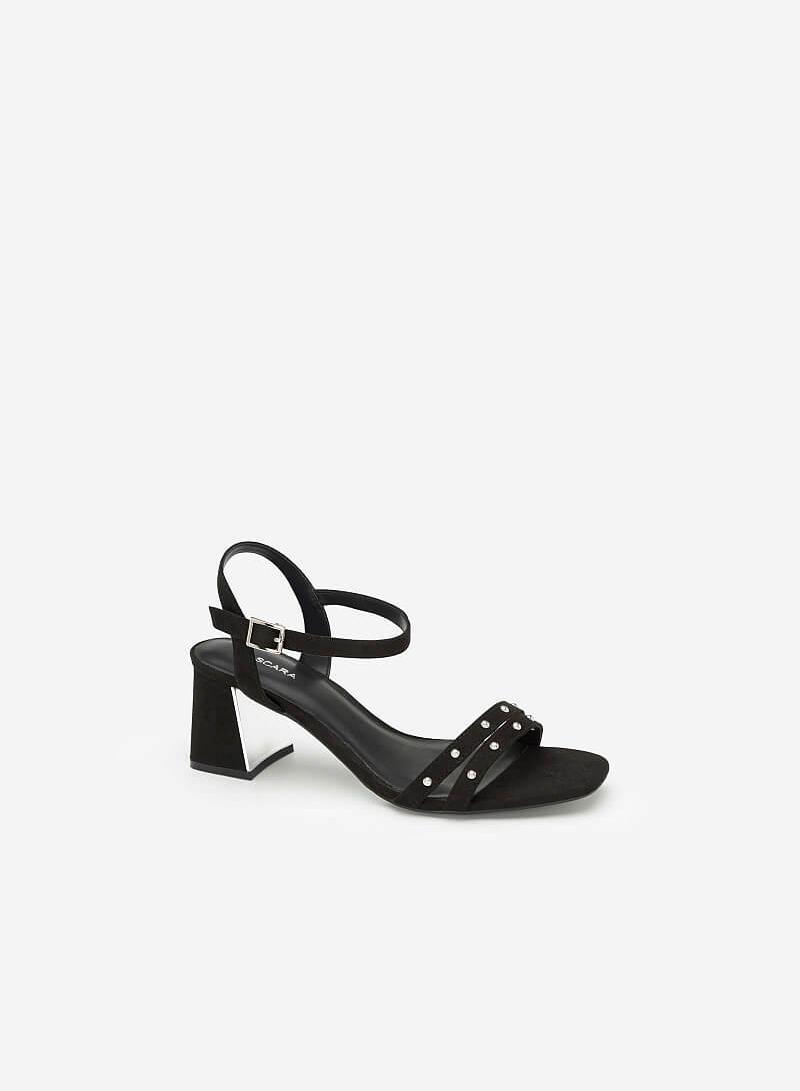 Giày Sandal Phối Đinh Tán - SDN 0636 - Màu Đen - VASCARA