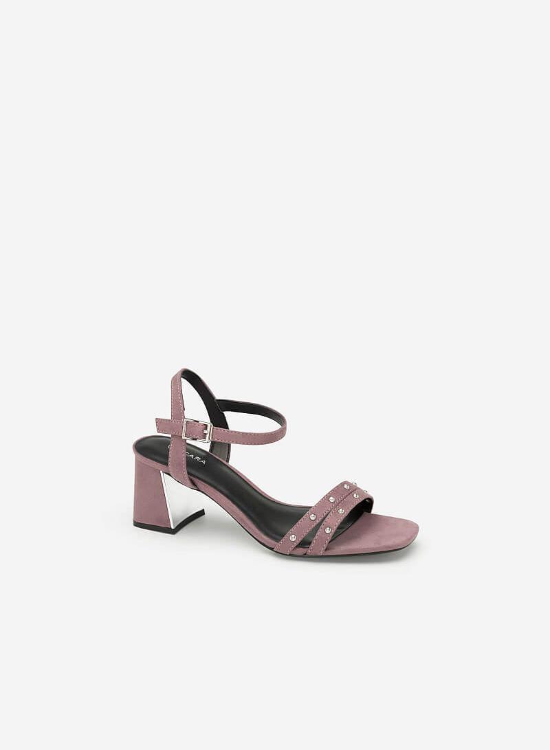 Giày Sandal Phối Đinh Tán - SDN 0636 - Màu Tím - vascara