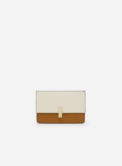 Túi Đeo Chéo Phối Màu - SHO 0137 - Màu Nâu