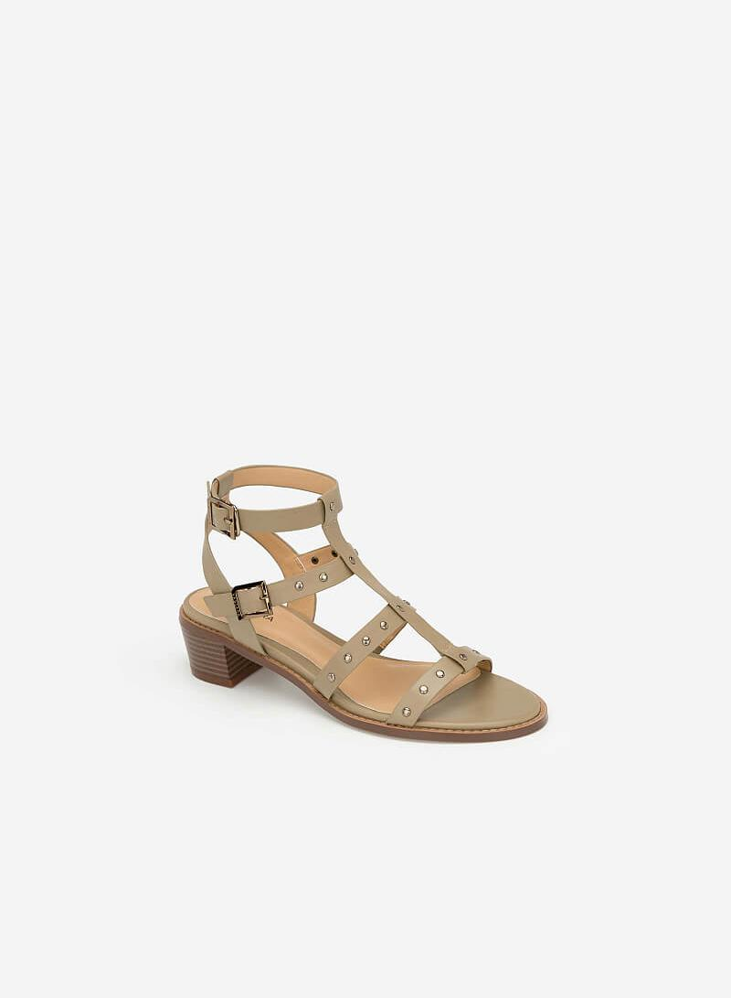 Giày Sandal Gladiators Phối Đinh Tán - SDN 0640 - Màu Be Đậm - vascara