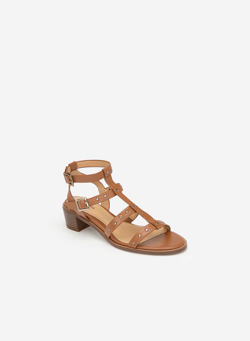 Giày Sandal Gladiators Phối Đinh Tán - SDN 0640 - Màu Nâu - VASCARA