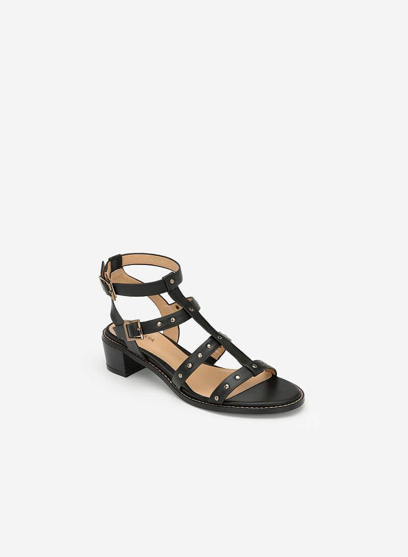 Giày Sandal Gladiators Phối Đinh Tán - SDN 0640 - Màu Đen - vascara