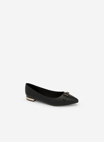 Giày Búp Bê Đính Nơ - BMN 0340 - Màu Đen