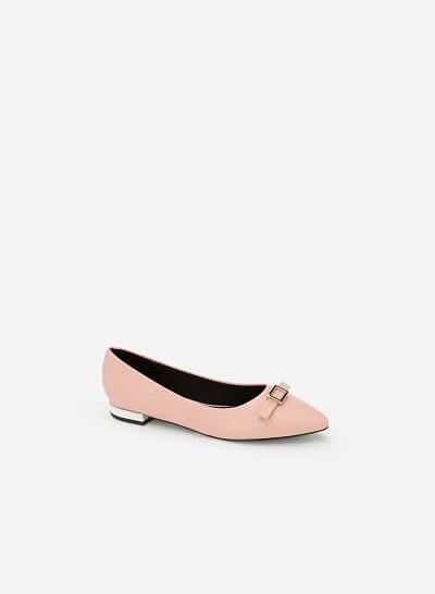 Giày Búp Bê Đính Nơ - BMN 0340 -Màu Hồng