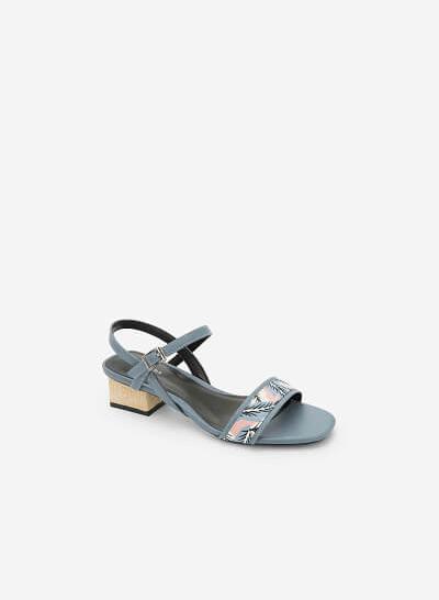 Giày Sandal Họa Tiết Nhiệt Đới - SDN 0633 -Màu Xanh Da Trời - vascara.com